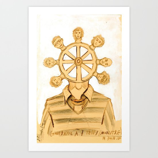 The helm Art Print