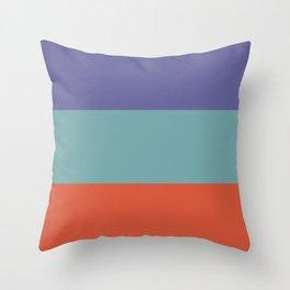 70s Color Palette - purple, turquoise,red - retro 3 color scheme Throw Pillow