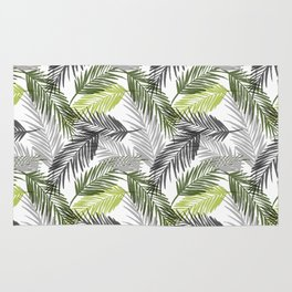 Palm tree leaf Rug