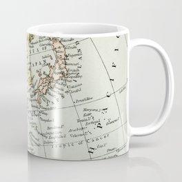 China, Russia, Japan Vintage Map Coffee Mug