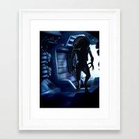 xenomorph Framed Art Prints featuring Xenomorph by Lokason Illustration