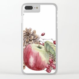 Winter Composition Clear iPhone Case