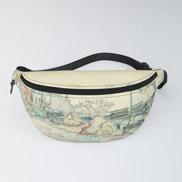 "Paul Signac ""Paris, le Pont des Arts"" Fanny Pack"