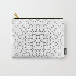 Minimalist Black and White Circles Carry-All Pouch