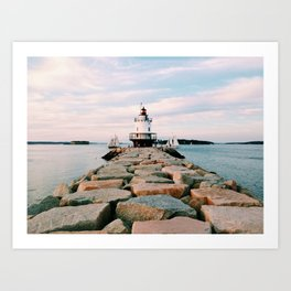 Spring Point Lighthouse Art Print