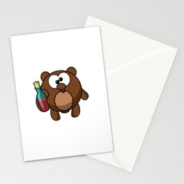 Plötzlich voll - auf einmal betrunken Bär besoffen Saufen Stationery Cards
