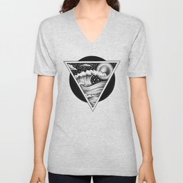 GIANT WAVES Unisex V-Neck