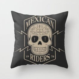mexican riders Throw Pillow