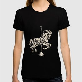Vintage Carousel Horse - Mulberry T-shirt
