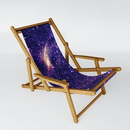 Ultra violet purple abstract galaxy Sling Chair