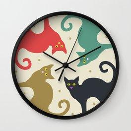 Cats and Cream Wall Clock