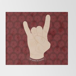 Show me your horns! Throw Blanket