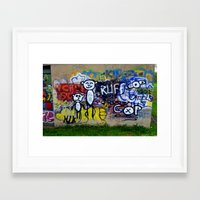 grafitti Framed Art Prints featuring Grafitti by LoRo  Art & Pictures