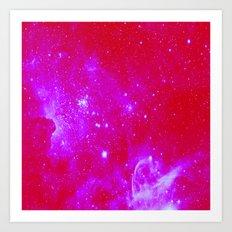 Bright Pink, Fuschia Galaxy Art Print