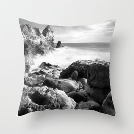 Corona del Mar beach in Southern California Throw Pillow