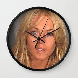 LINDSAY LOHAN MUGSHOT Wall Clock