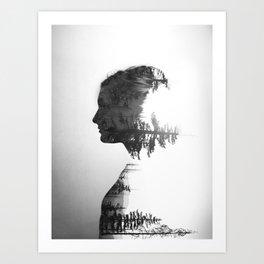 Treeline Portrait Art Print
