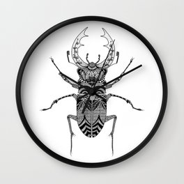Bug - stag beetle Wall Clock