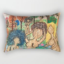 Lady Swirls and Curls Rectangular Pillow