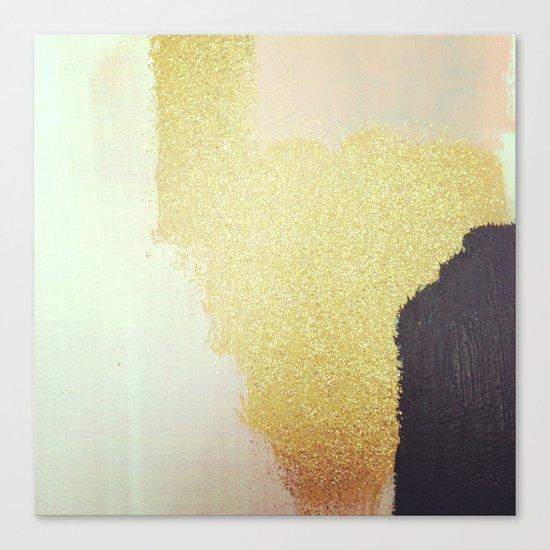 Gold White Black Canvas Print