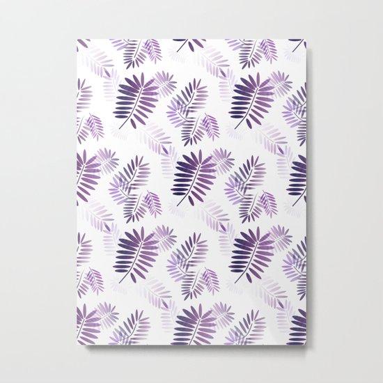 Purple Tropics Metal Print