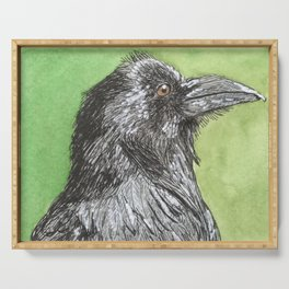 Majestic Raven Serving Tray