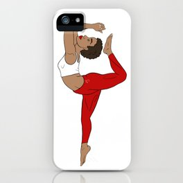 Stretch to higher self Red Kemetic Yoga iPhone Case