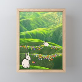 Sunshine Bunnies Framed Mini Art Print