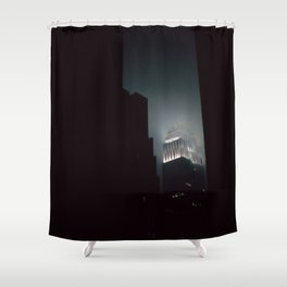 Night Lights Empire State Fog and Snow Shower Curtain