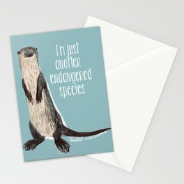 Huillin otter Stationery Cards