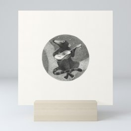 "FS. ""Serenade"" coati with vihuela Mini Art Print"