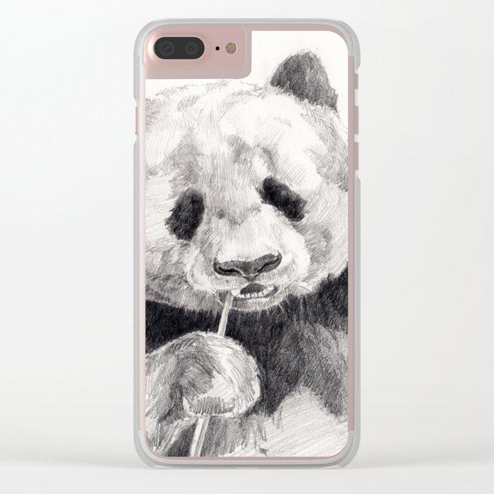 panda Clear iPhone Case