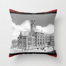 Historic Courthouse - Jefferson County Alabama - Birmingham Throw Pillow
