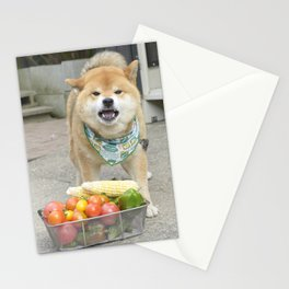 Vegetable man Stationery Cards