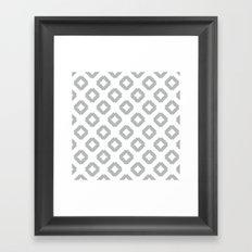 Graphic_Tile Grey Framed Art Print