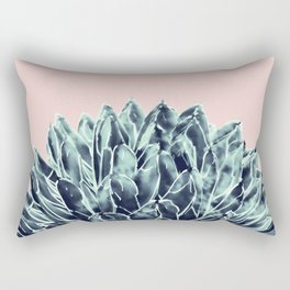 Blush Navy Blue Agave Chic #1 #succulent #decor #art #society6 Rectangular Pillow