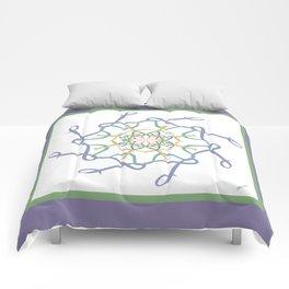 Lullaby Mandala - Lavender Green Comforters