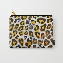 GOLD LEOPARD MARBLE Carry-All Pouch