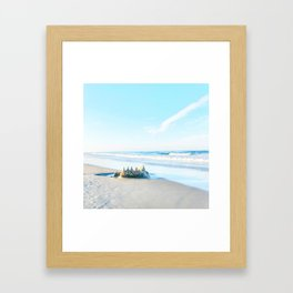Kitty Hawk Beach on the Outer Banks of North Carolina Framed Art Print
