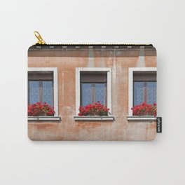 Three Windows in Venice Carry-All Pouch