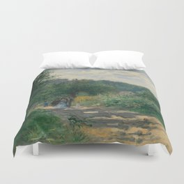 "Auguste Renoir ""A Road in Louveciennes"" Duvet Cover"