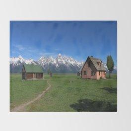 Moulton Homestead and Grand Teton Range Throw Blanket
