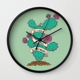 Ni Santas Ni Putas Solo Mujeres Wall Clock