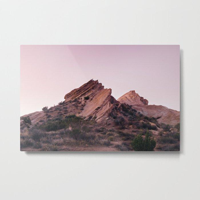 Desert Landscape at Magic Hour Metal Print