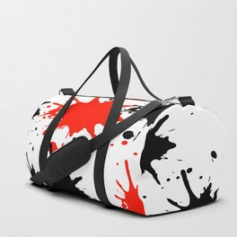red black splash painting design Duffle Bag