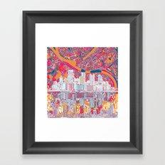 pittsburgh city skyline Framed Art Print