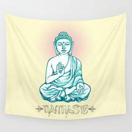 Buddha Namaste Wall Tapestry