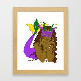 Mardi Gras Mermaid 2 Framed Art Print