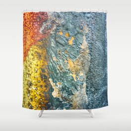 Colorful Abstract Texture Shower Curtain