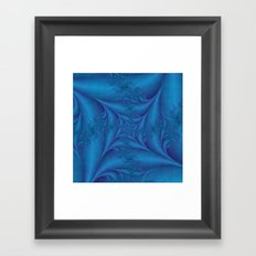 Blue Square Spiral Framed Art Print